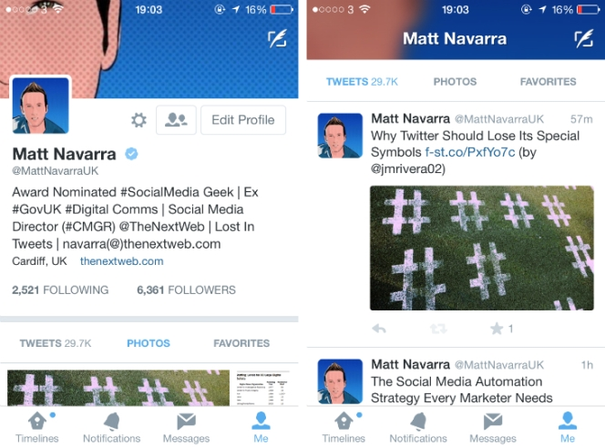 Twitter Tests More Inviting Profile Designs On Mobile